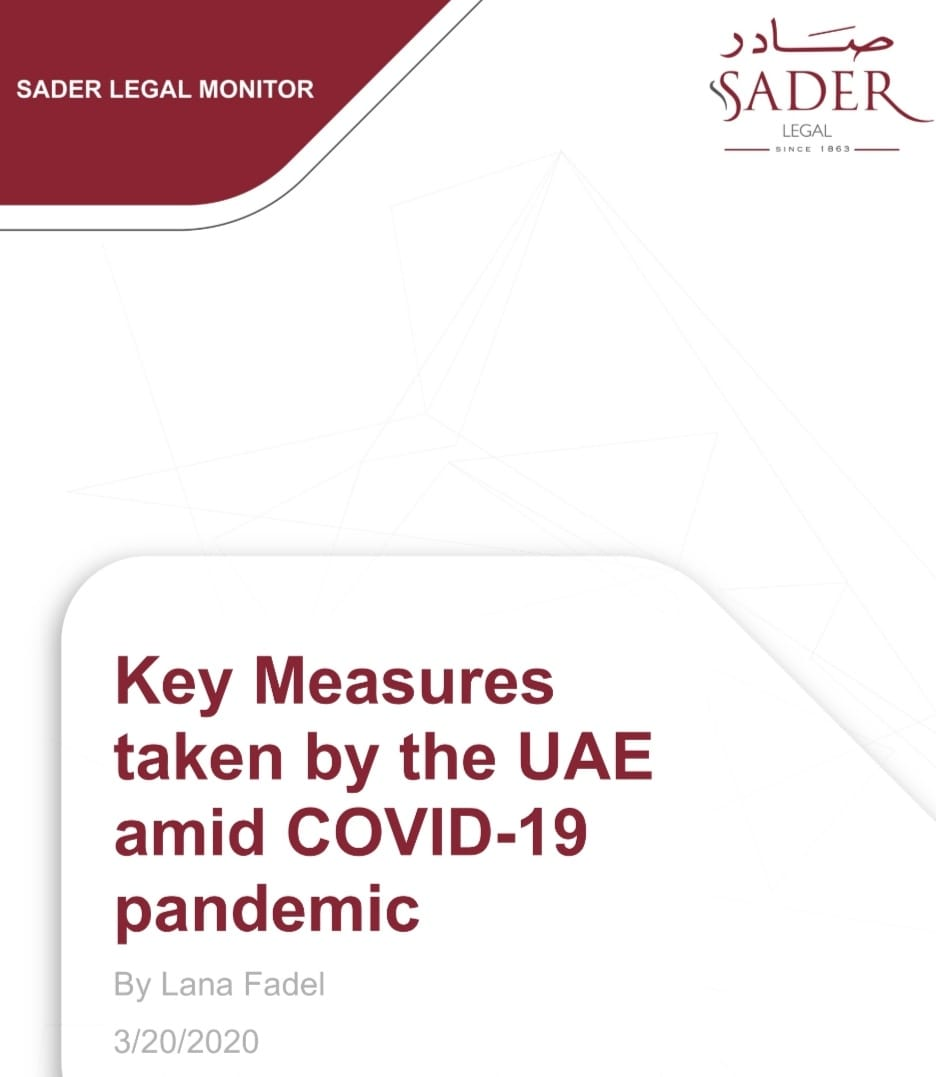 key Measures taken by the UAE amid COVID-19 pandemic