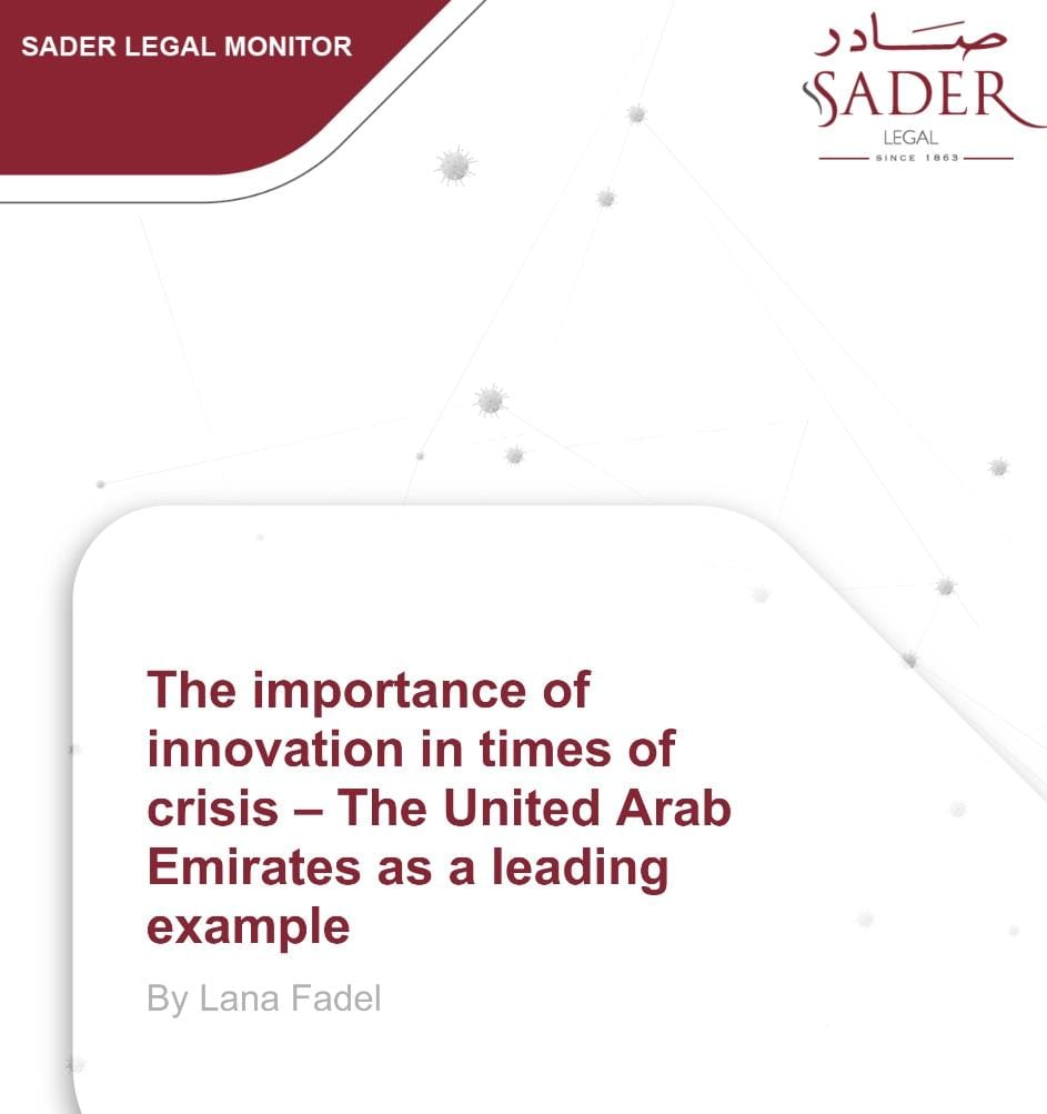 The importance of innovation in times of crisis - The United Arab Emirates as leading example