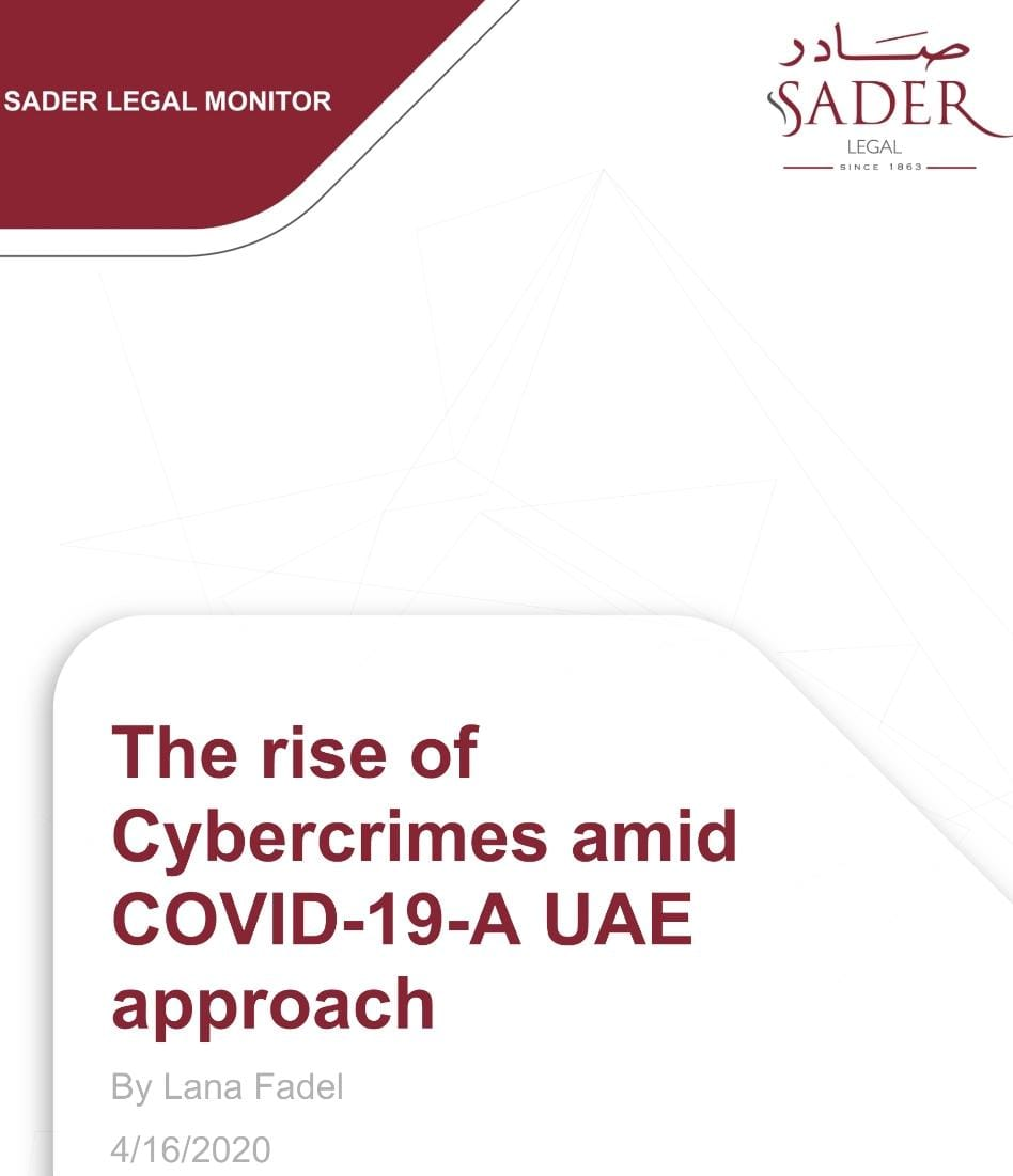 The rise of Cybercrimes amid COVID-19-A UAE approach